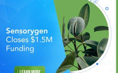 Sensorygen Closes $1.5M Funding